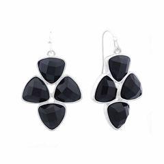 Liz Claiborne® Black Acrylic Drop Earrings
