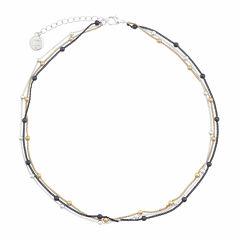 Liz Claiborne® Hematite 3-Strand Chain Necklace