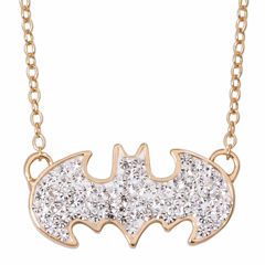 DC Comics® Batman 14K Gold Over Silver Crystal Necklace