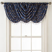 Royal Velvet® Geneva Embroidered Rod-Pocket Waterfall Valance