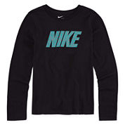 Nike® Long-Sleeve Pattern Training Tee - Girls 7-16