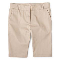 IZOD® Twill Bermuda Shorts - Girls 7-16, Slim and Plus