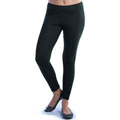24/7 Comfort Apparel Ankle Length Solid Knit Leggings