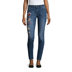 Love Indigo Embroidered Skinny Jean