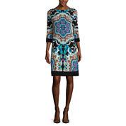 nicole by Nicole Miller® 3/4-Sleeve Printed Shift Dress