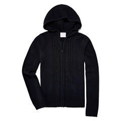 IZOD® Long-Sleeve Zip Sweater Hoodie - Preschool Girls 4-6x