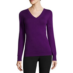 Worthington® Long-Sleeve Essential V-Neck Sweater