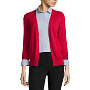 Worthington® Long-Sleeve Button-Front Cardigan