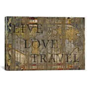 Live Love Travel by Diego Tirigall Canvas Wall Art