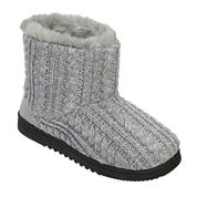 Dearfoams® Marled Cable Knit Boot Slippers