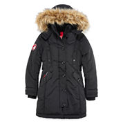 Canada Weather Gear Black Stadium Parka - Girls 7-16
