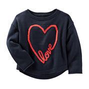 OshKosh B'gosh® Long-Sleeve Navy Sweatshirt - Toddler Girls 2t-5t