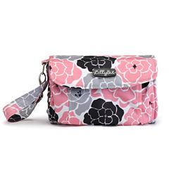 LillyBit Pink Floral Clutch Diaper Bag