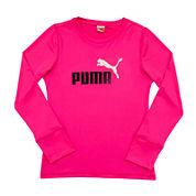 Puma® Forever Faster Long-Sleeve Tee - Preschool Girls 4-6x