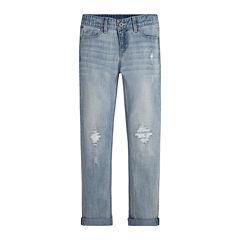 Levi's® Destructed Boyfriend-Fit Flat-Front Skinny Jeans - Girls 7-18
