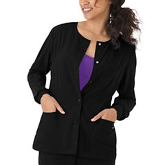 Jockey Womens Round Neckline Snap Jacket - Plus