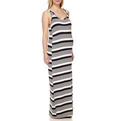 Maternity Sleeveless Knit Maxi Dress