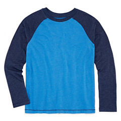 Arizona Long Sleeve Crew Neck T-Shirt-Big Kid Boys