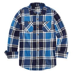 Arizona Long Sleeve Flannel Shirt Boys 8-20 & Husky