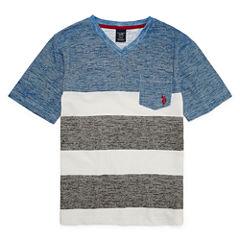 U.S. Polo Assn. Short Sleeve V Neck T-Shirt-Big Kid Boys