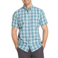 IZOD Advantage Short Sleeve Button-Front Shirt