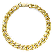 10K Yellow Gold Curb Chain Bracelet