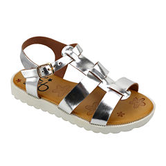 OMGirl Fiona Caged Starfish-Embossed Girls Strappy Sandals - Little Kids
