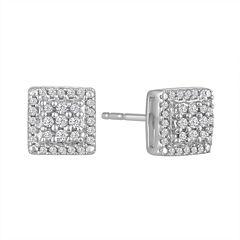 Diamond Blossom 1/5 CT. T.W. Round White Diamond Sterling Silver Stud Earrings
