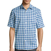 Claiborne® Short-Sleeve Stretch Woven Shirt