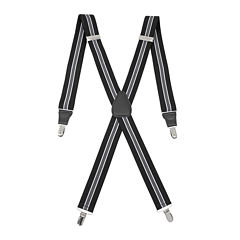 Status Striped Drop-Clip Belt Suspenders