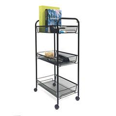 Mind Reader ' Roll'  Rolling 3 shelf cart