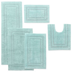 Liz Claiborne Cotton Reversible Solid Bath Rug Collection
