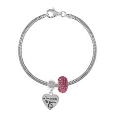 Forever Moments™ Love you to the Moon 3-pc. Bracelet and Beads Set