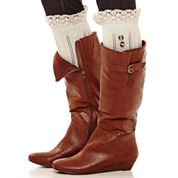 Mixit™ Pointelle Lace and Button Boot Toppers