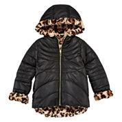 Pistachio Reversible Long-Sleeve Faux-Fur Jacket - Preschool Girls 4-6x