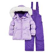 WeatherProof Heart Dot Lavender 2-pc. Snowsuit Set - Toddler Girls 2t-4t