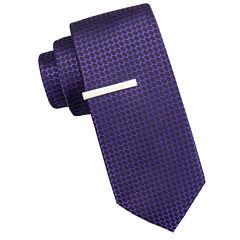 JF J. Ferrar® Atlantic Avenue Nonsolid Dot Tie and Tie Bar Set