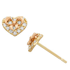 1/5 CT. T.W. Round White Cubic Zirconia 14K Gold Stud Earrings