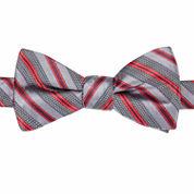 JF J. Ferrar® Harbour Striped Pre-Tied Bow Tie