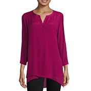 St. John's Bay® Long-Sleeve Asymmetrical-Hem Tunic