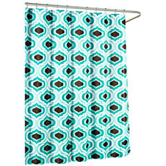 Letto with Metal Hooks Shower Curtain Set