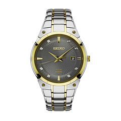 Seiko Mens Two Tone Bracelet Watch-Sne430