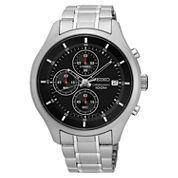 Seiko Mens Silver Tone Bracelet Watch-Sks539