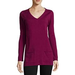 St. John's Bay® Long-Sleeve Sweater Tunic