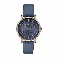 Timex Metropolitan Starlight Womens Blue Strap Watch-Tw2r510009j