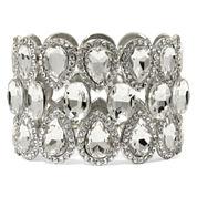 Natasha Crystal Silver-Tone Stretch Bracelet