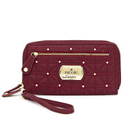 Nicole By Nicole Miller Cara Triple-Zip Studded Wallet