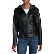 a.n.a® Fleece Hooded Scuba Jacket