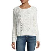 a.n.a® Fringe Studded Sweater