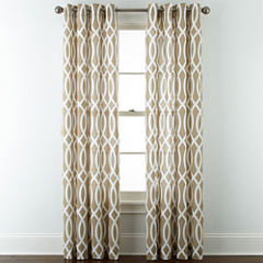 JCPenney Home™ Cotton Classics Ogee Grommet-Top Curtain Panel